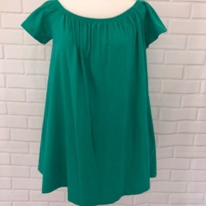ASOS Short Sleeve green tunic top size Small